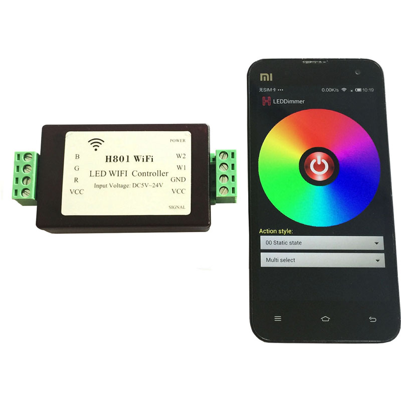Controlling a ESP8266 H801 Wifi controller through Python